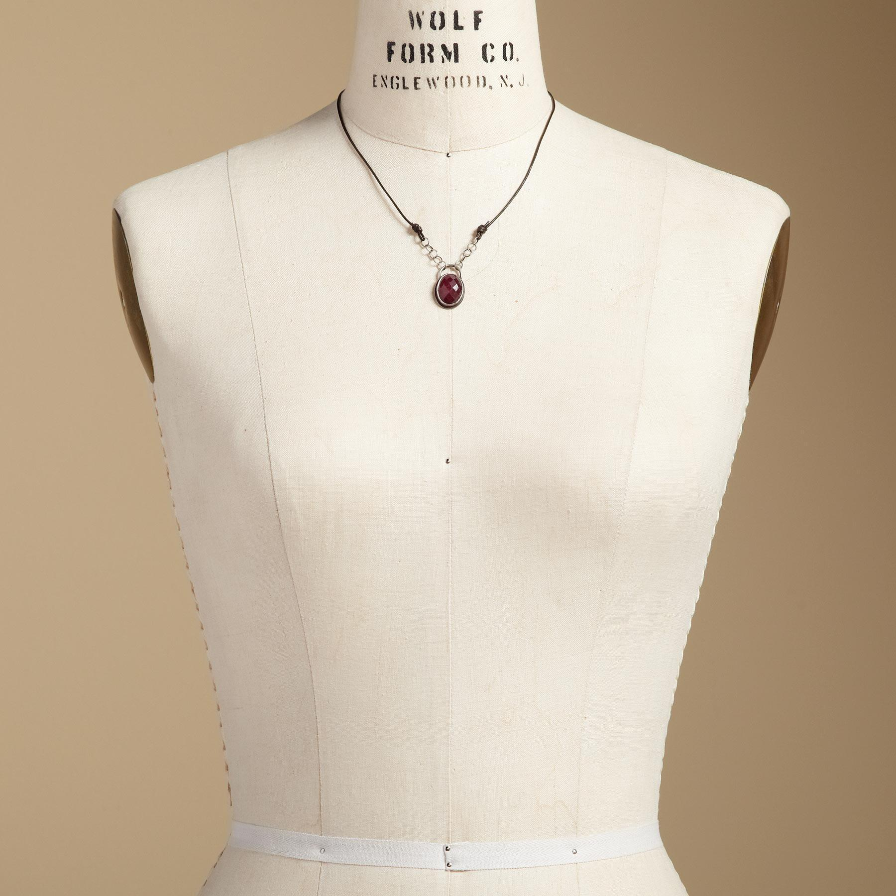 RUBY AMULET NECKLACE: View 4