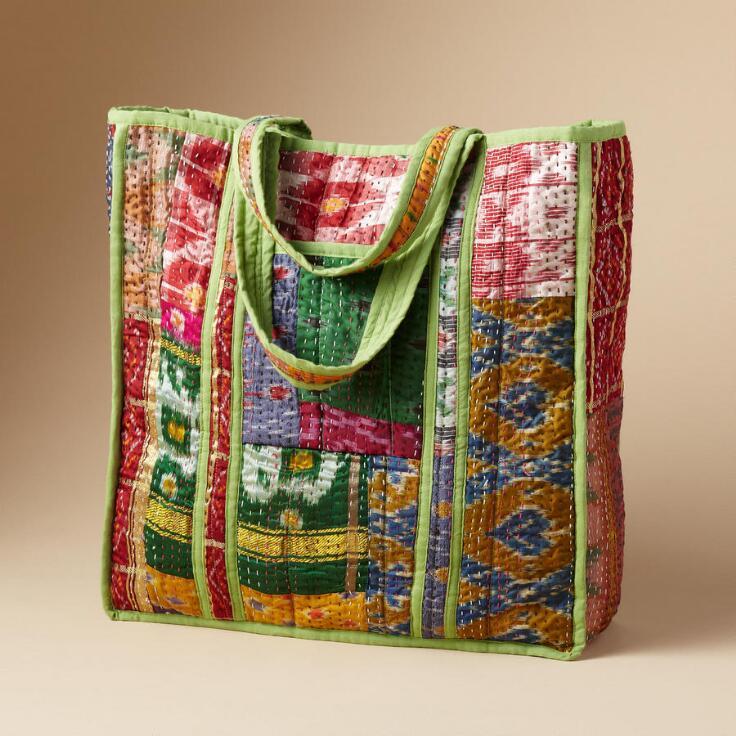 Sari Patchwork Tote Totes Amp Carryalls Bags