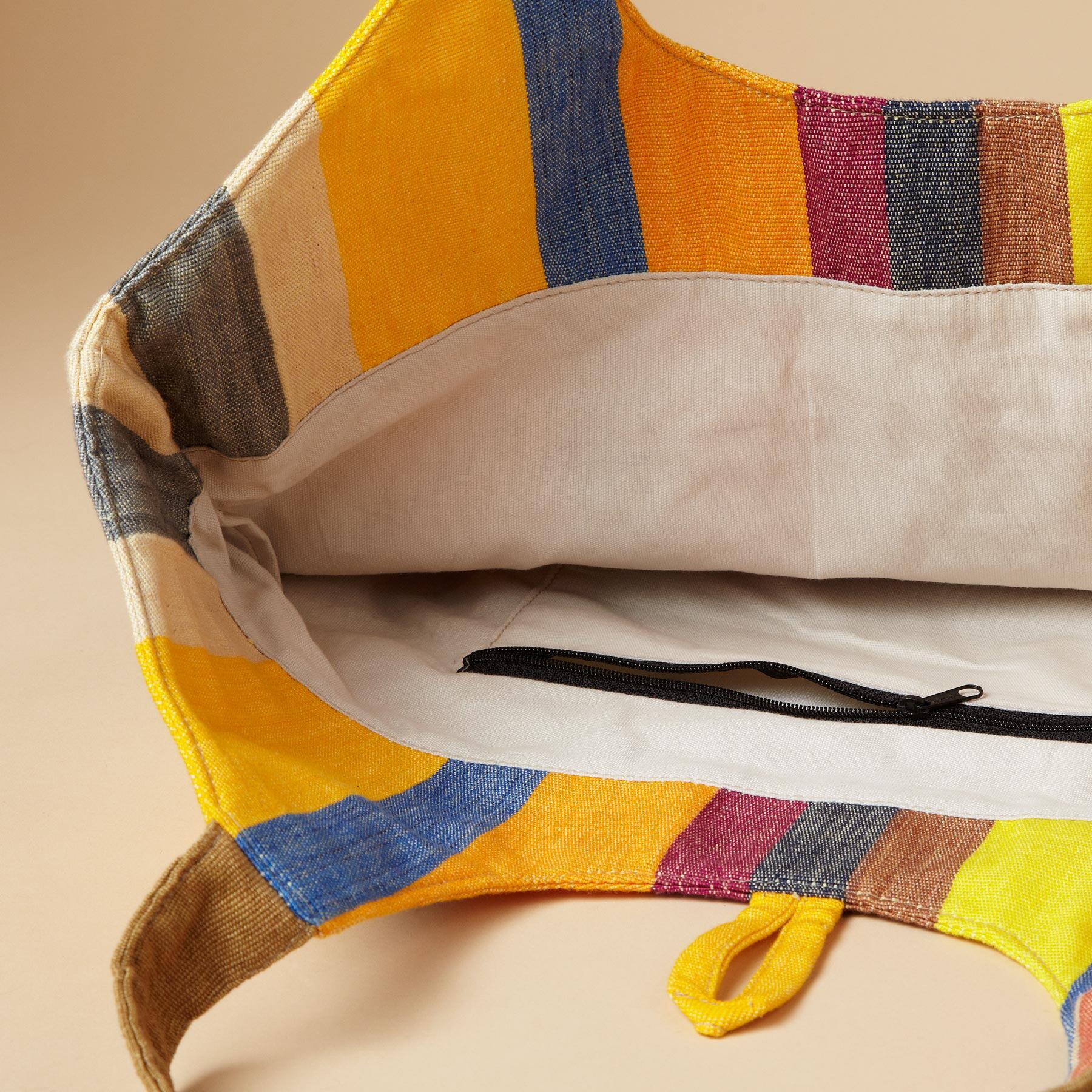 IKAT SUMMER STRIPE TOTE: View 2
