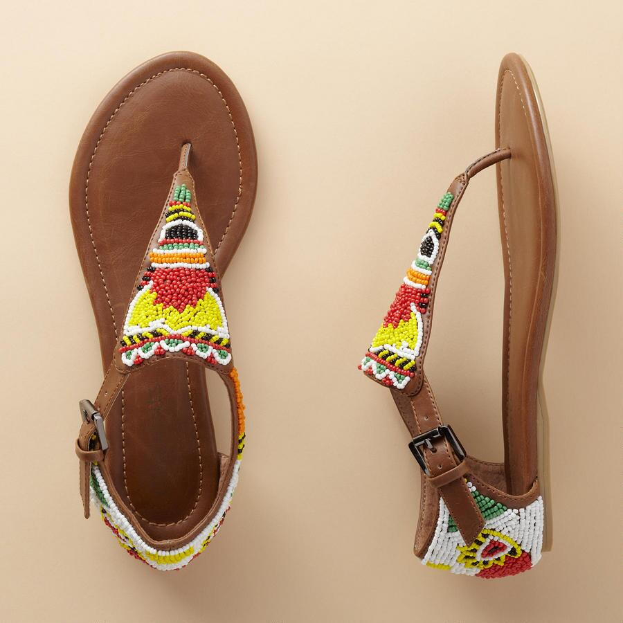 BRIGHTLY BEADED SANDALS