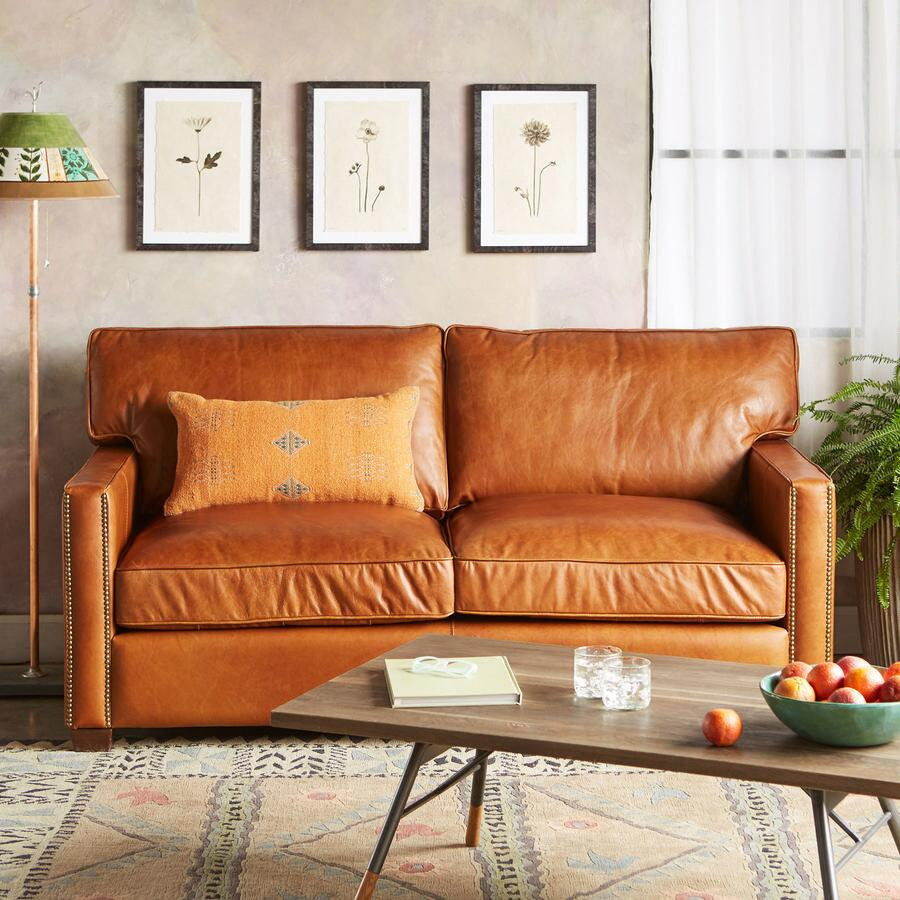 Oakville Leather Sofa Robert Redford 39 S Sundance Catalog