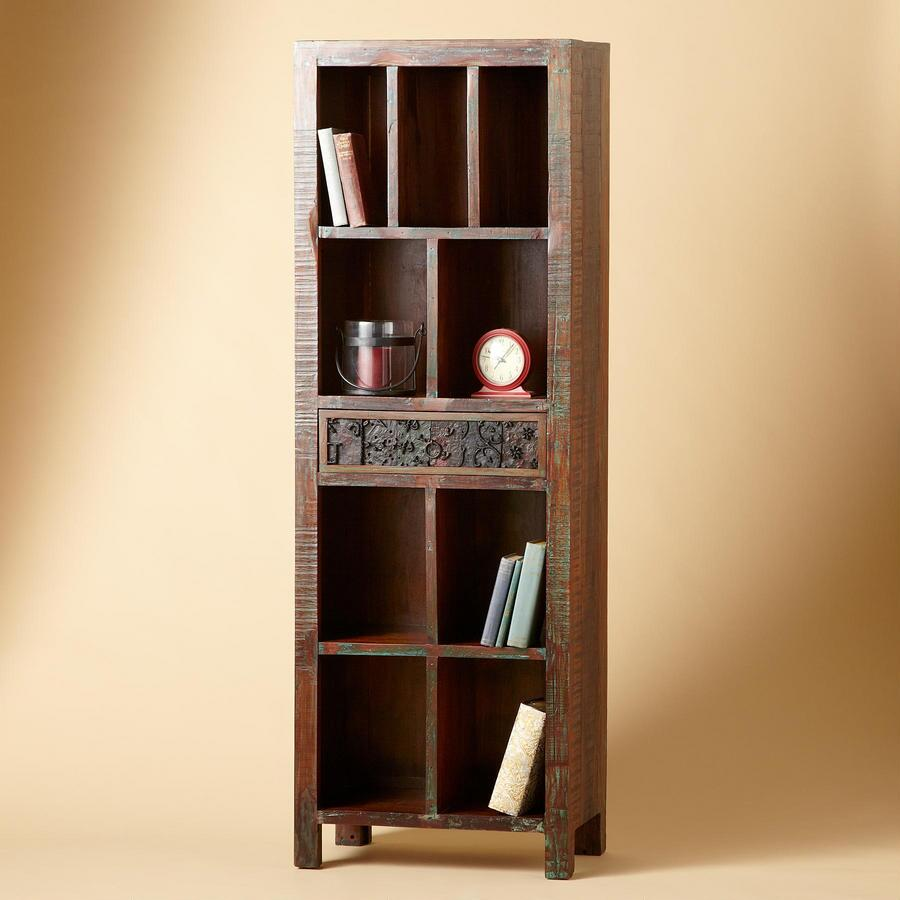 MEDIUM SECOND GENERATION CARVED CUBBY CABINET