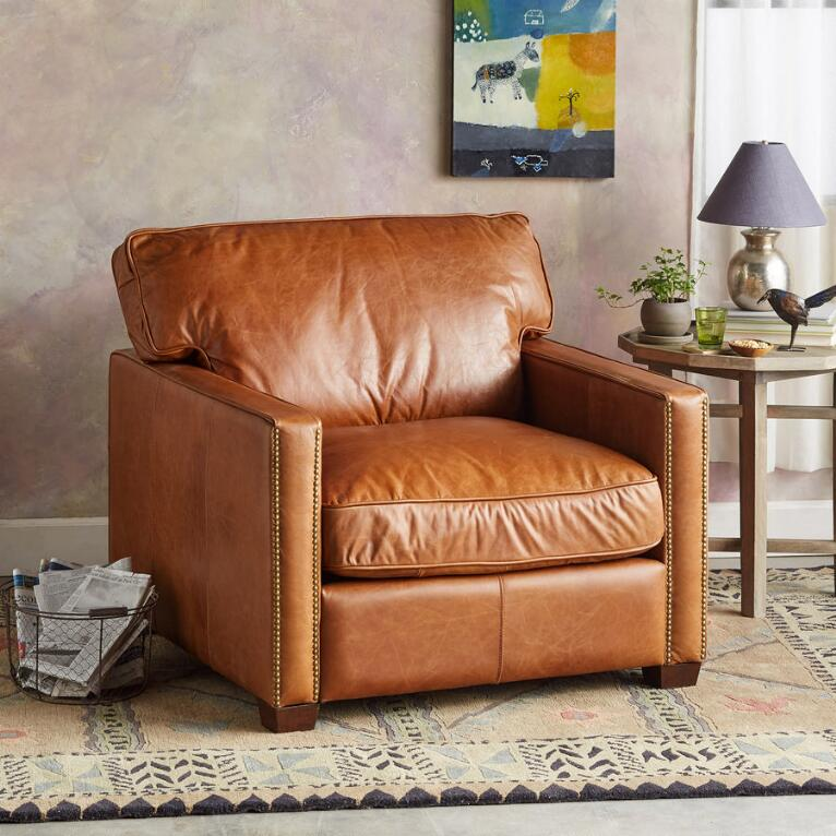 OAKVILLE LEATHER CLUB CHAIR