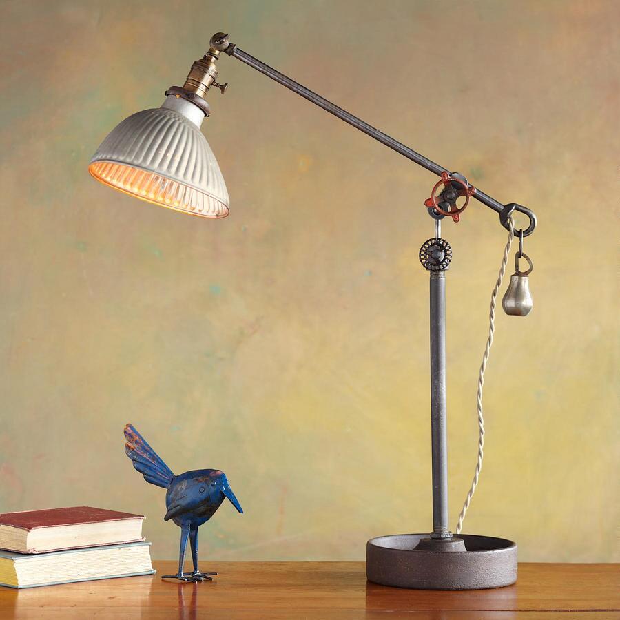 PRESSED ALUMINUM SHADE LAMP