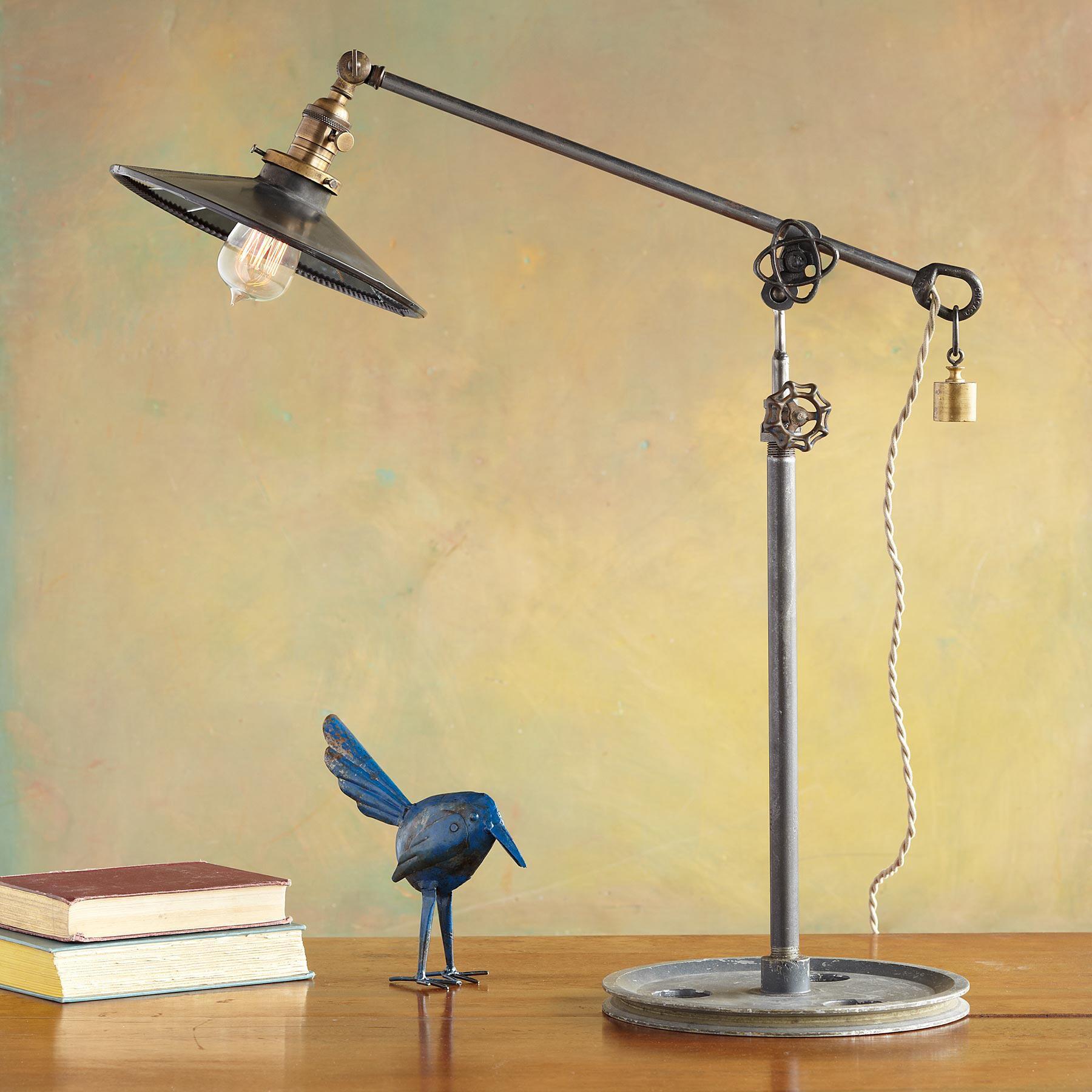MIRRORED SHADE LAMP: View 1