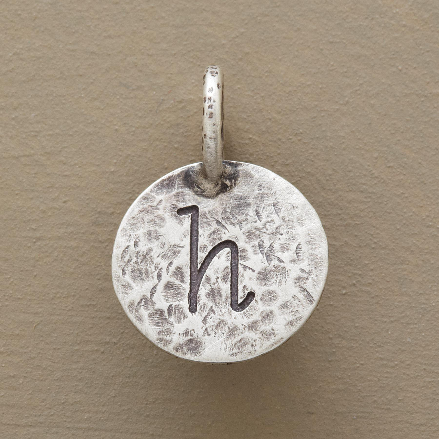 STERLING SILVER HAMMERED INITIAL CHARM: View 1