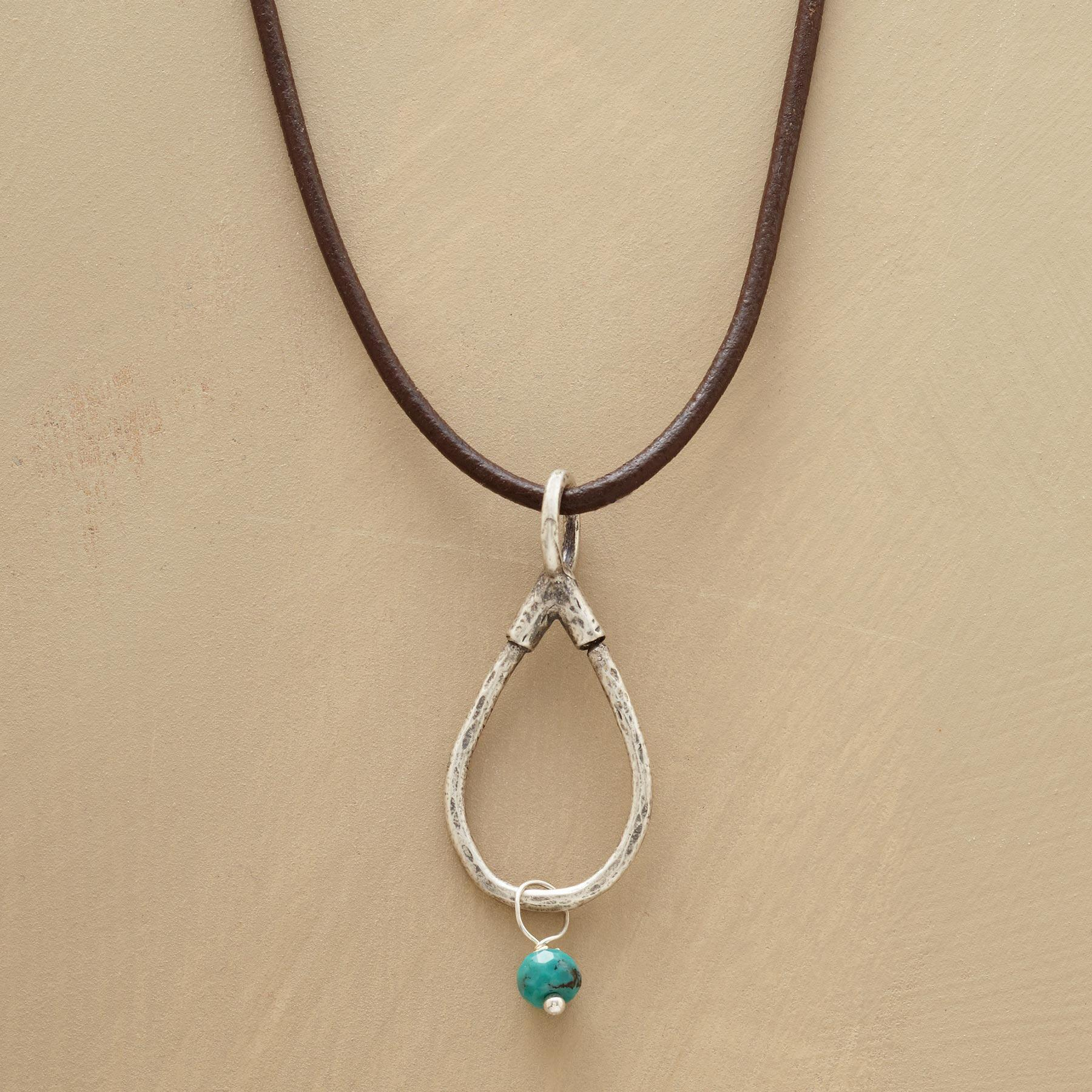 STERLING LEATHER CHARMHOLDER NECKLACE: View 3