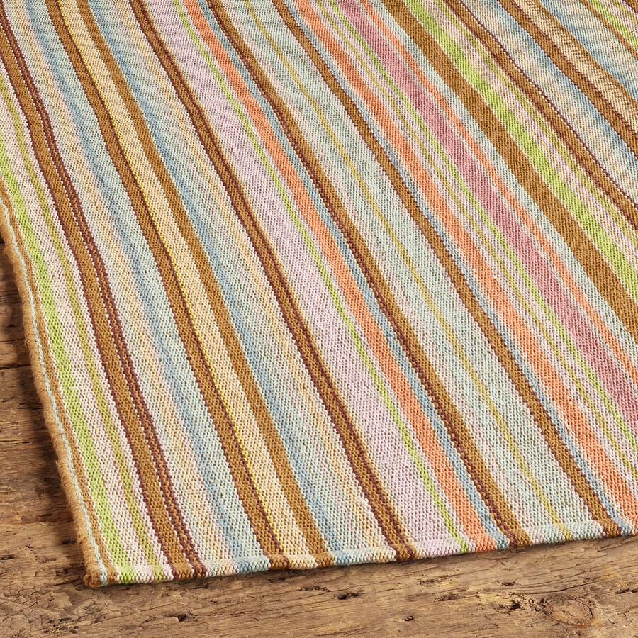 ZANZIBAR TICKING STRIPE COTTON MAT, LARGE