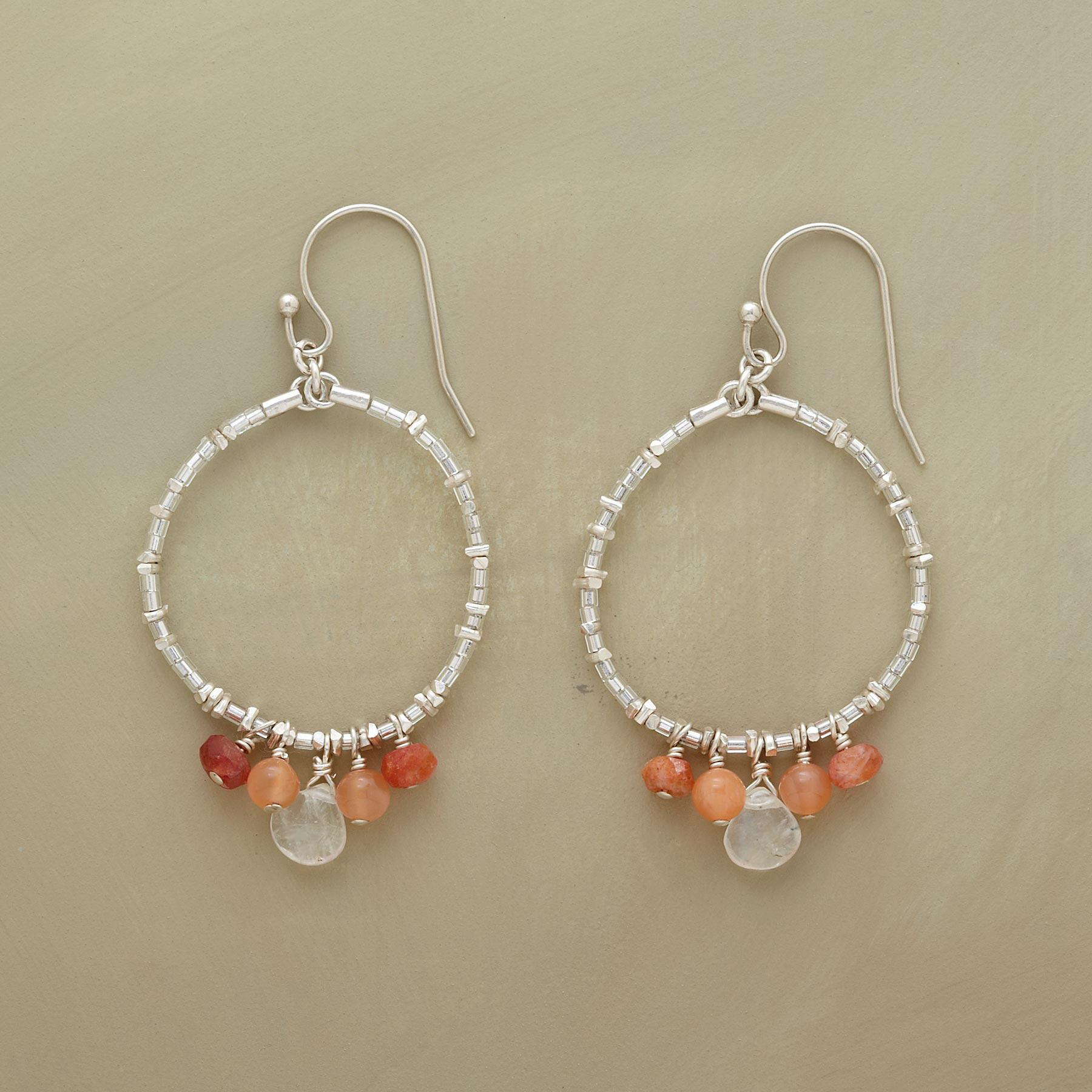 MOONSTONE EARRINGS: View 1