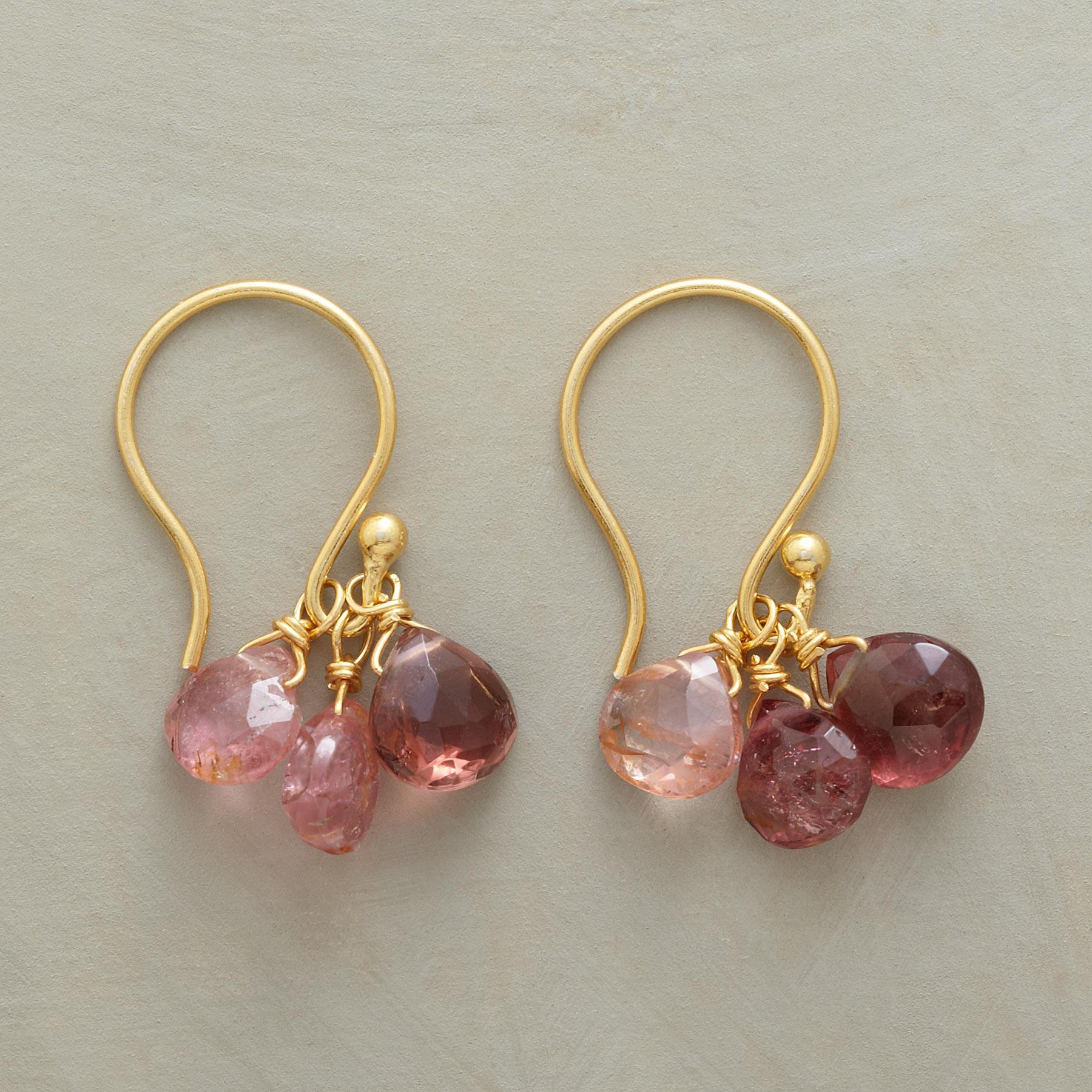 PINK RAIN EARRINGS: View 1