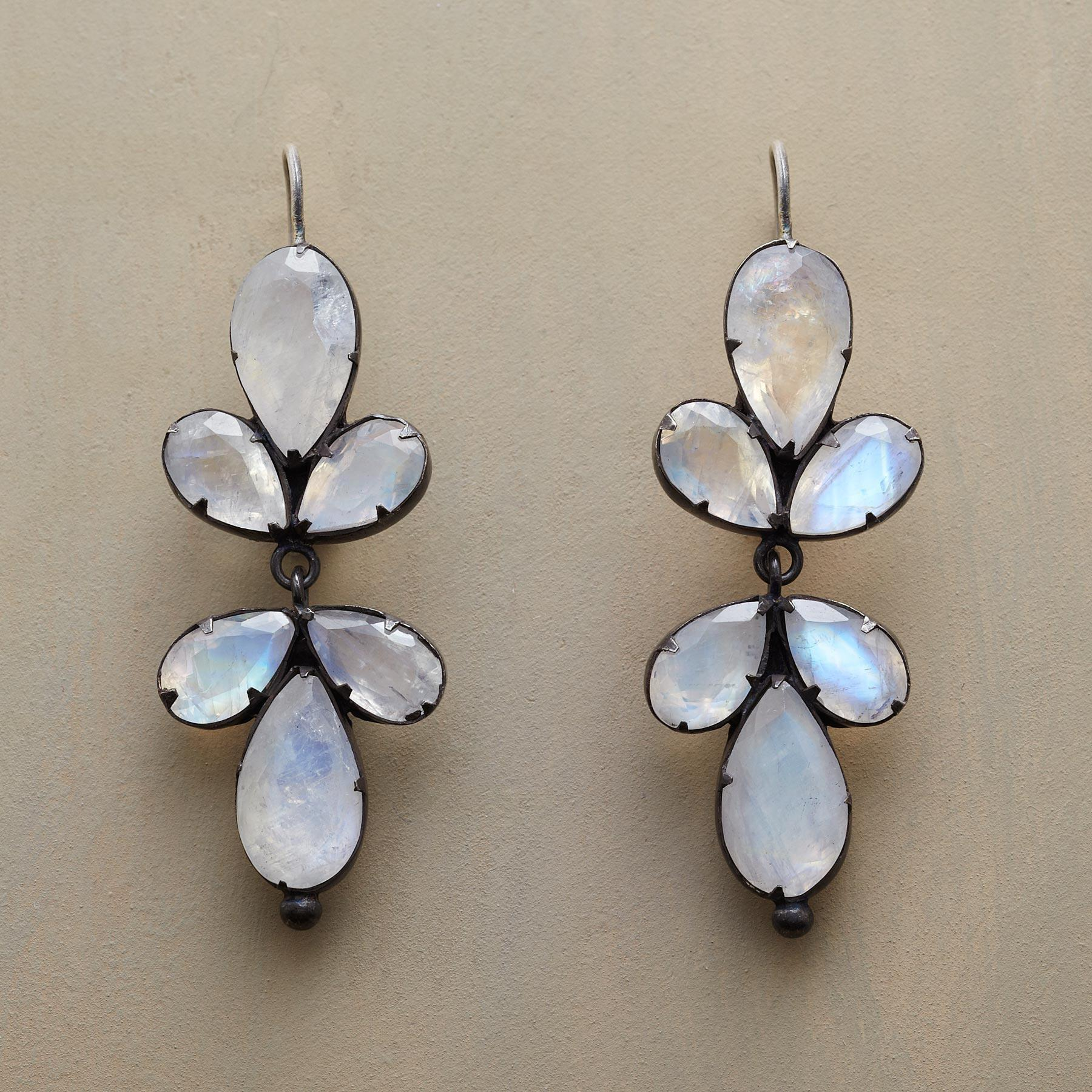 TRIFOLIATE MOONSTONE EARRINGS: View 1
