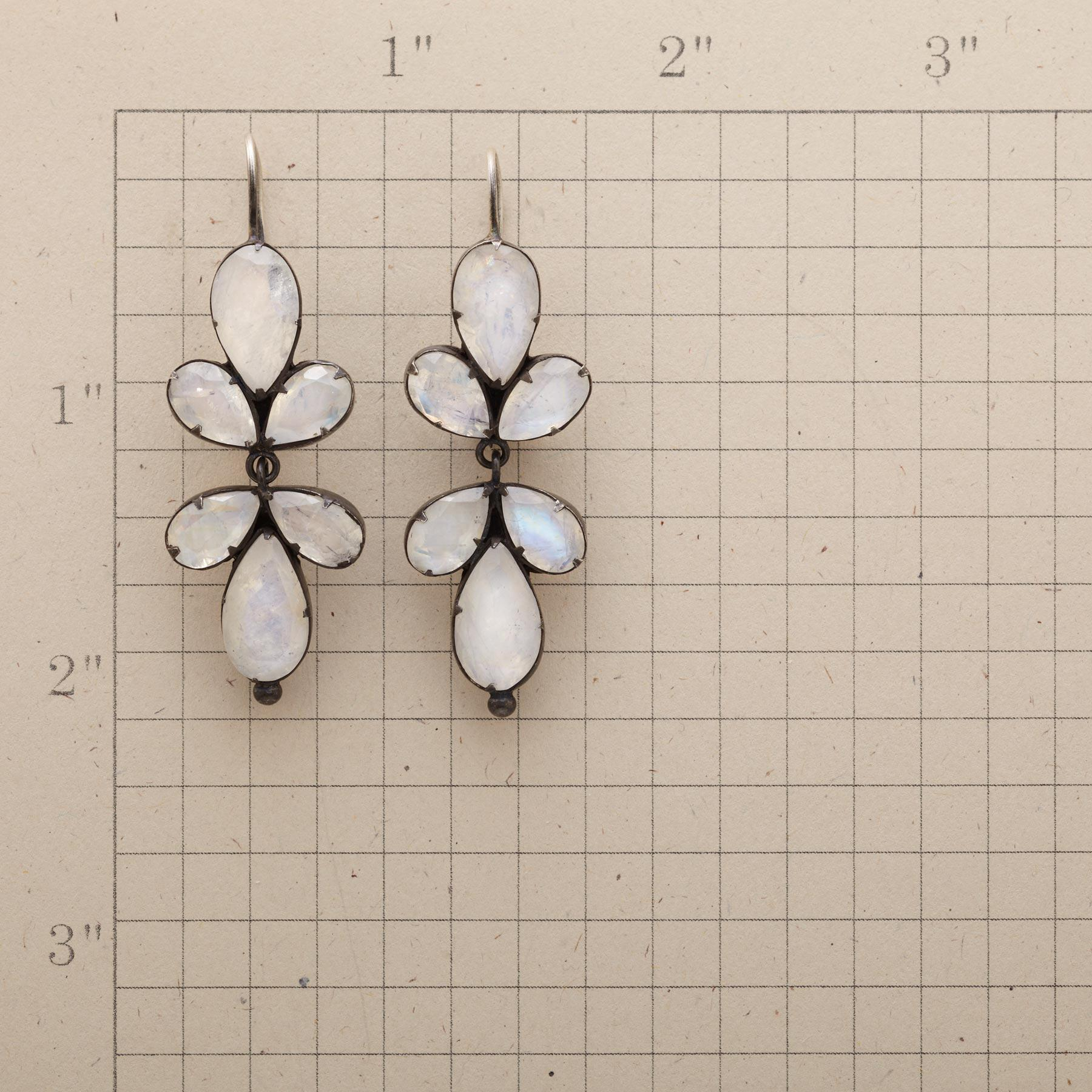 TRIFOLIATE MOONSTONE EARRINGS: View 2