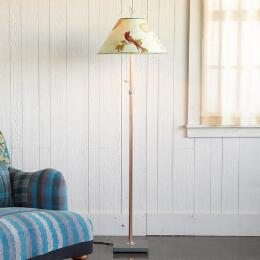 RED BIRD FLOOR LAMP