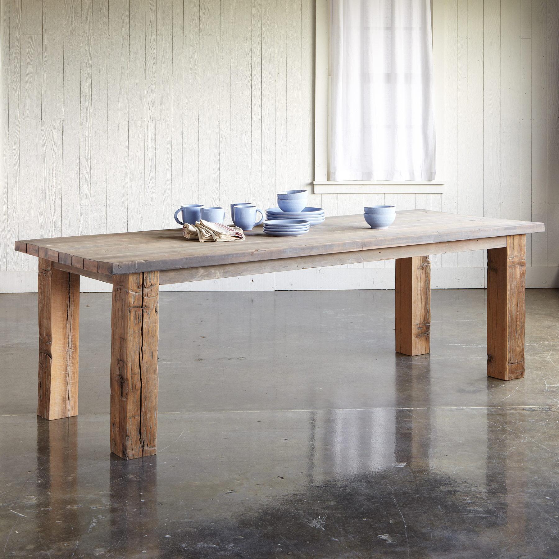 SALT & VINEGAR REDWOOD TABLE: View 1