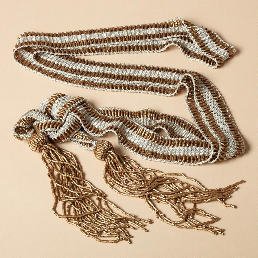 BEADED LARIAT SASH