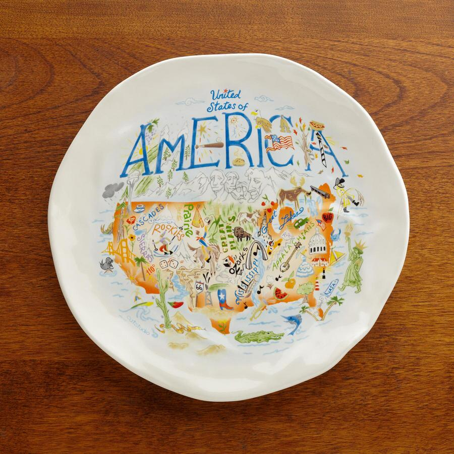 U. S. SOUVENIR PLATES, SET OF 4