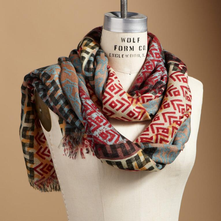 ENCHANTED TRIBAL SCARF