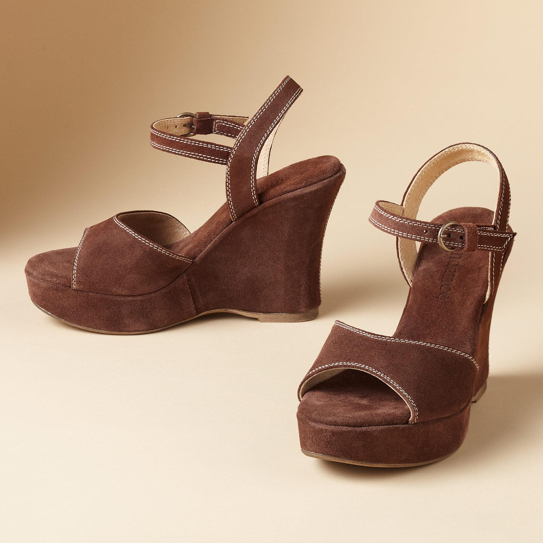 GRETA WEDGE SANDALS: View 1