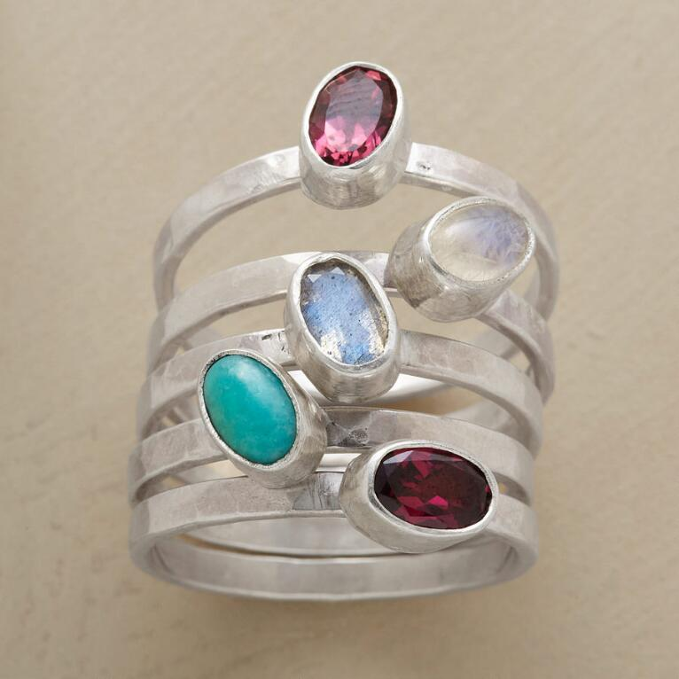 CARNIVAL QUINTET RINGS, SET OF 5