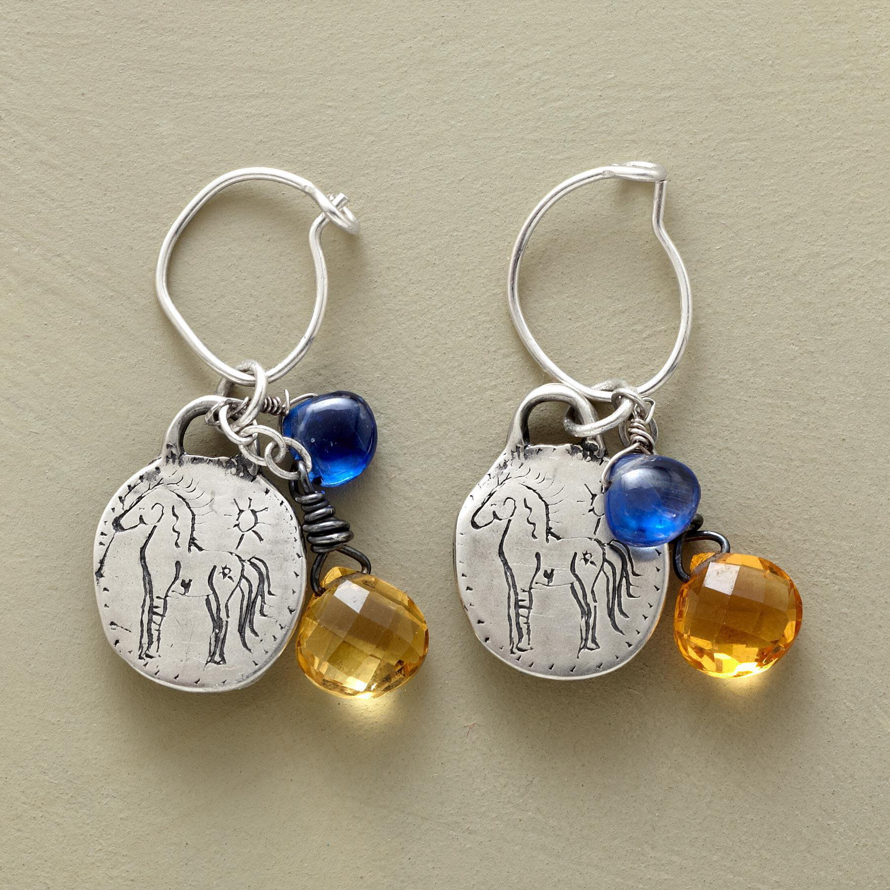 SUNSHINE AND BLUE SKIES EARRINGS: View 1