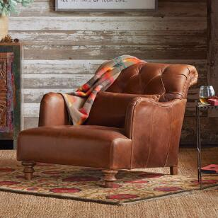 ALCAZAR LEATHER CLUB CHAIR