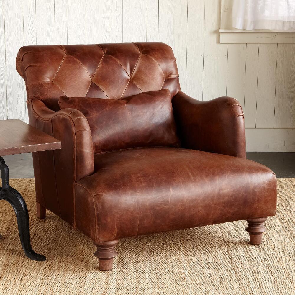ALCAZAR LEATHER CLUB CHAIR: View 2