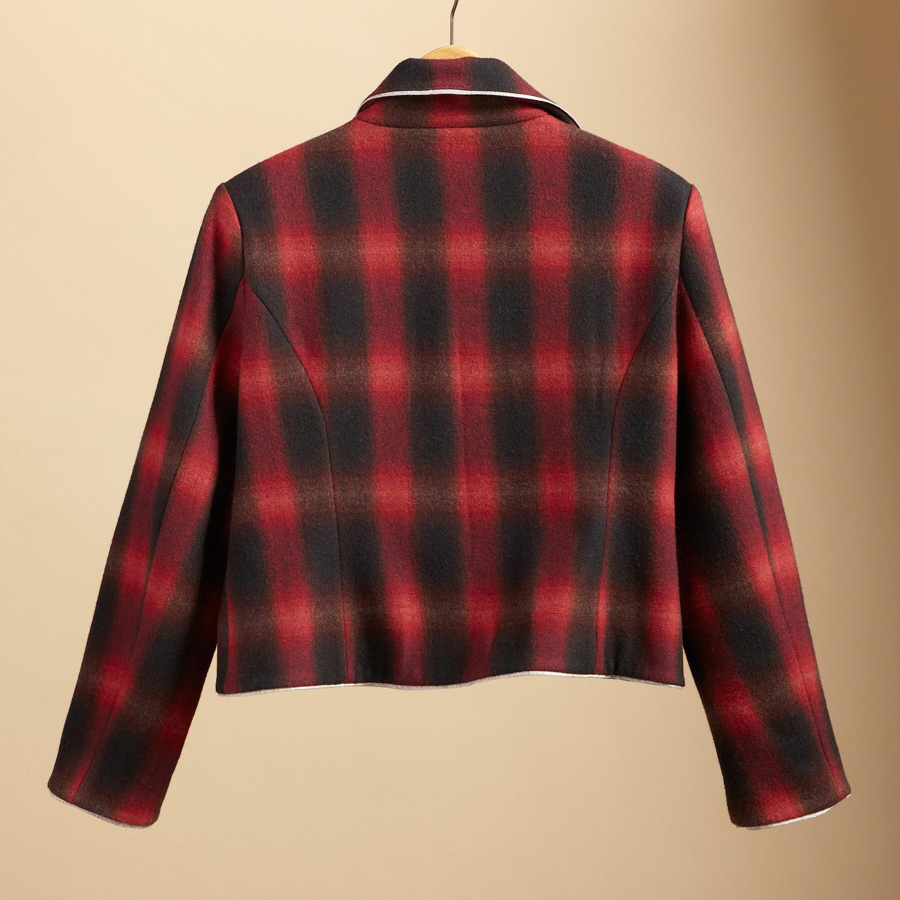 RETRO OMBRE PLAID JACKET: View 2