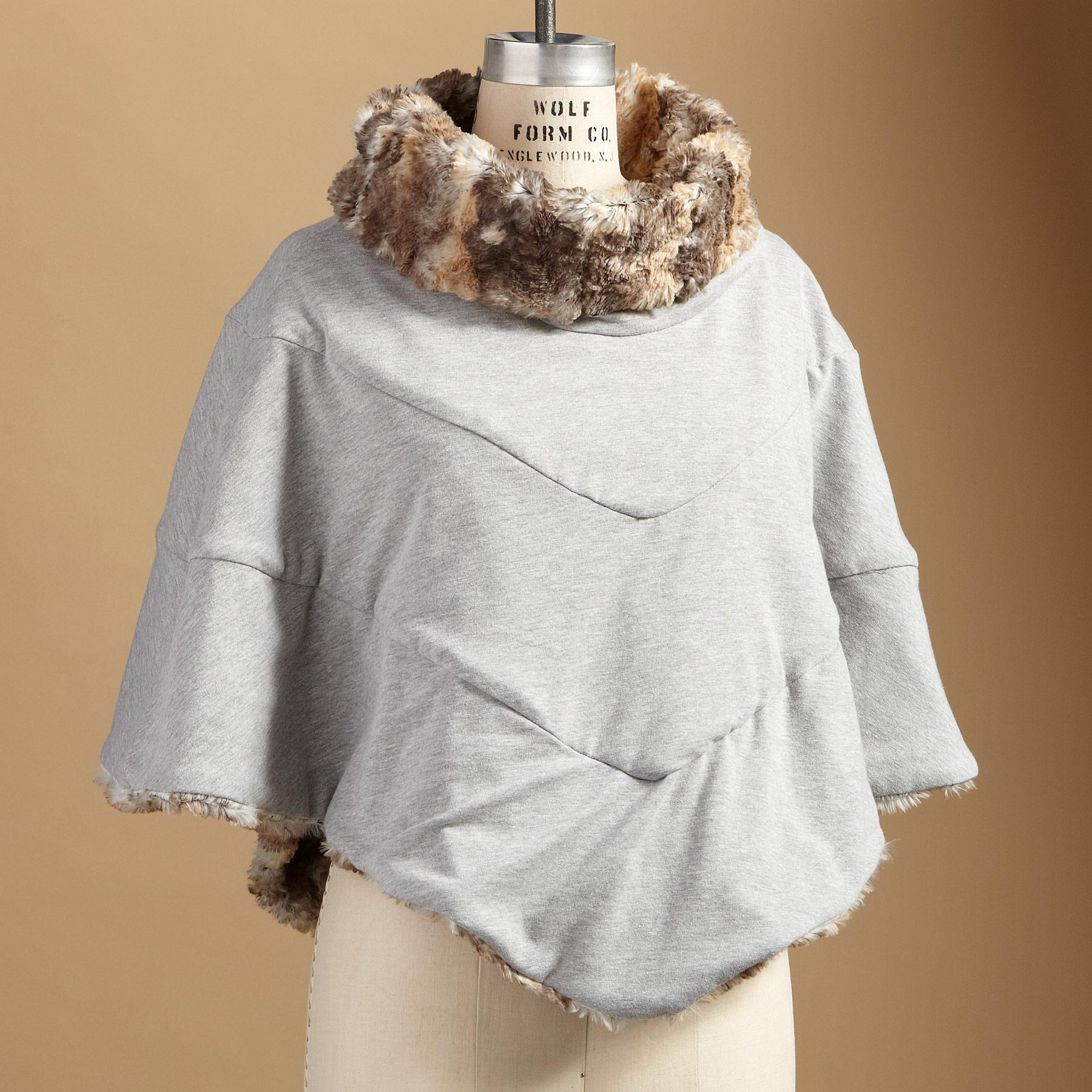 REVERSIBLE SOFT TOUCH PONCHO: View 2
