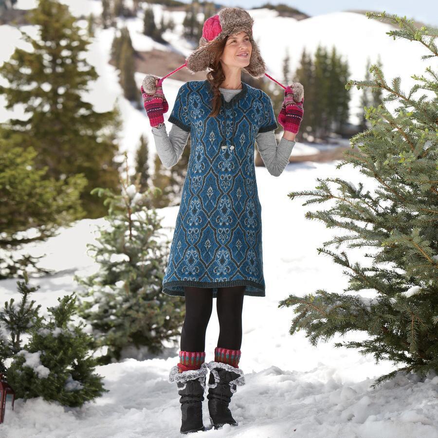 LAPLAND JACQUARD SWEATER DRESS