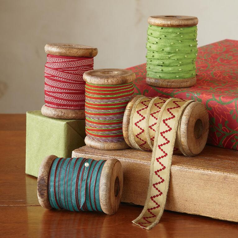 FESTIVE AND FANCY RIBBONS, SET OF 5
