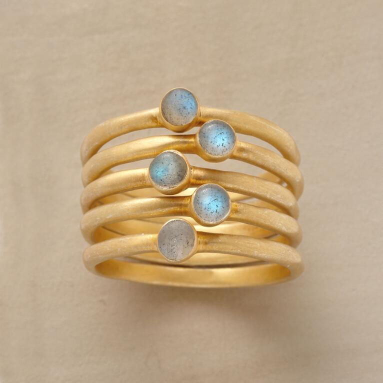 LITTLE LABRADORITE STACKING RINGS