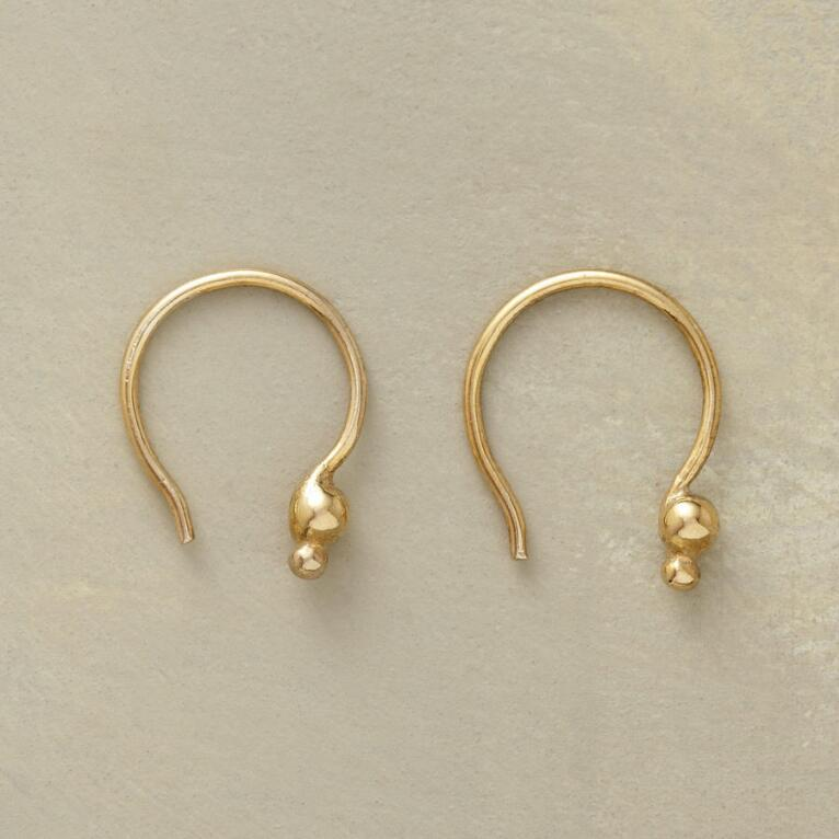 18KT GOLD PLATE DOUBLE DOT EARRINGS