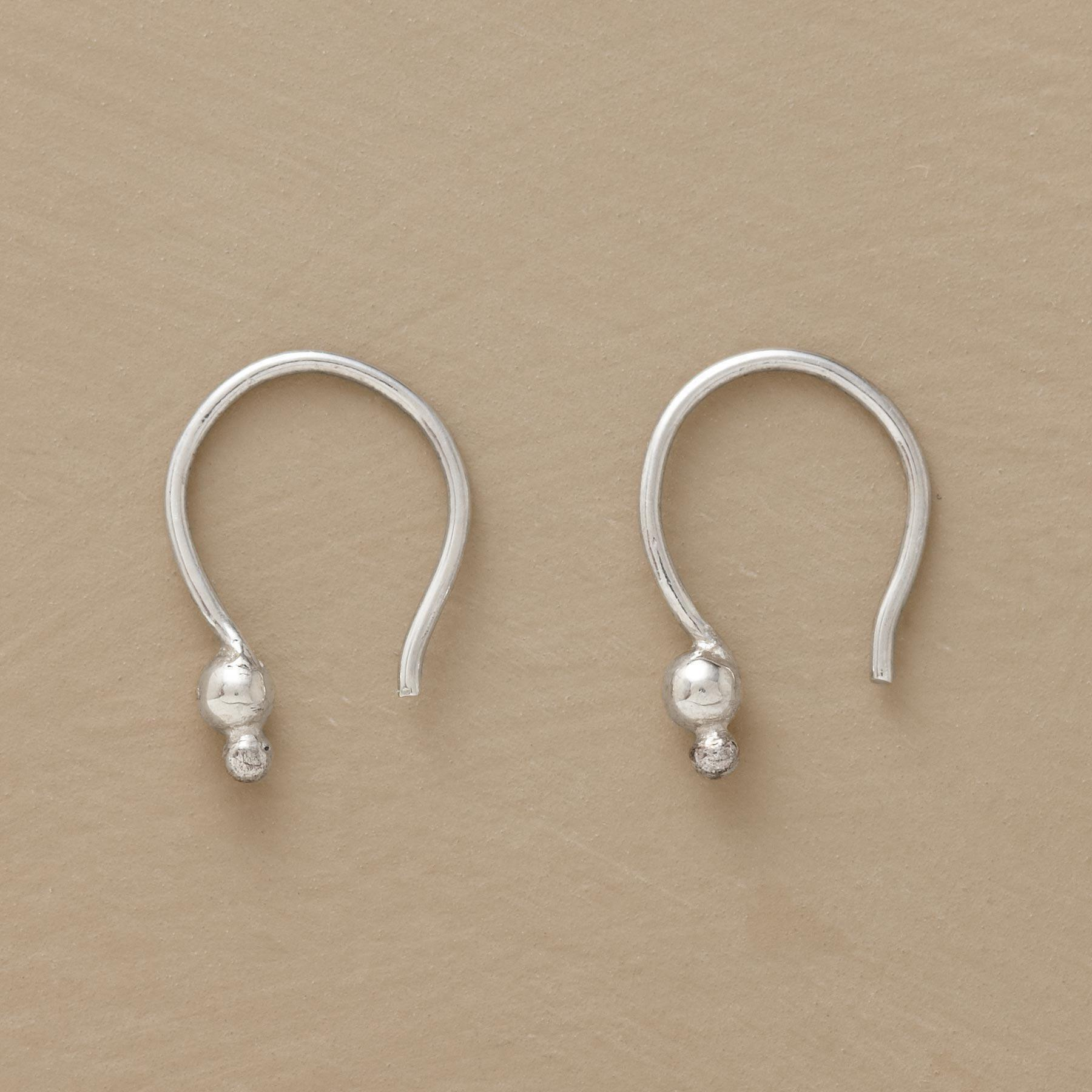 STERLING SILVER DOUBLE DOT EARRINGS: View 1