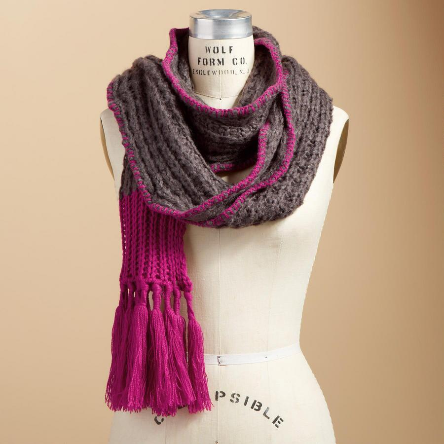 TIPPED & TEXTURED SCARF