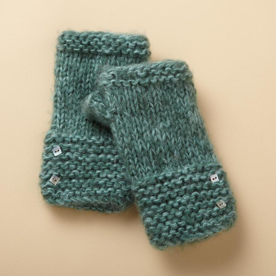 PEARL BUTTONED WRIST WARMERS