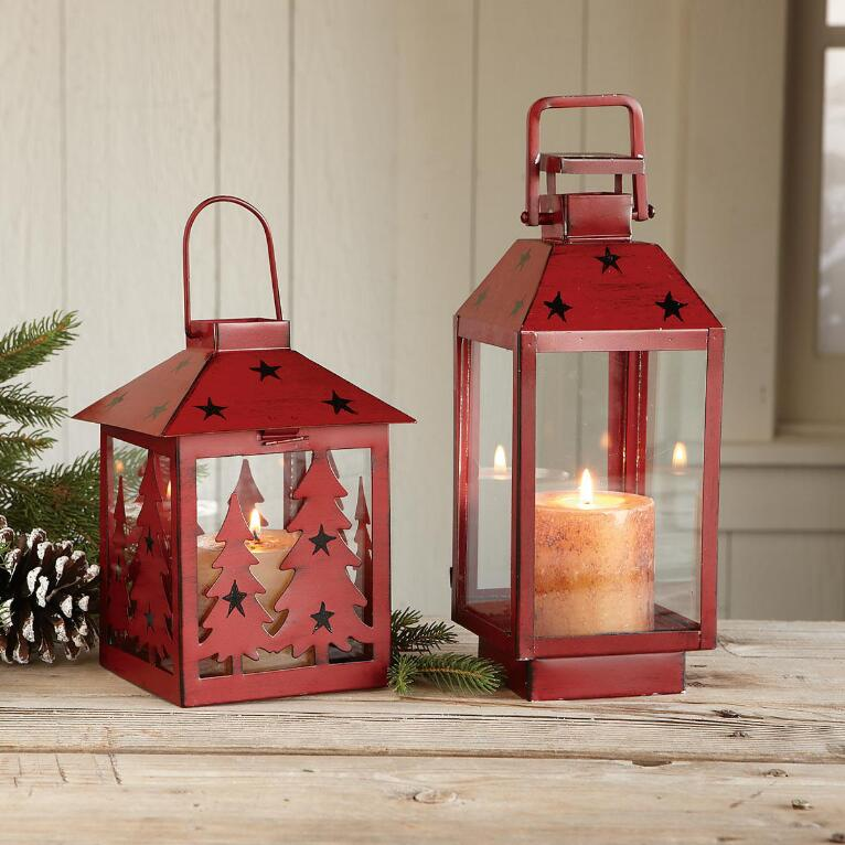 HOLIDAY LANTERNS, SET OF 2