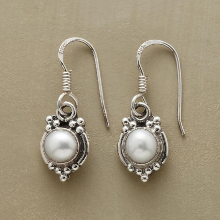MIRROR PEARL EARRINGS