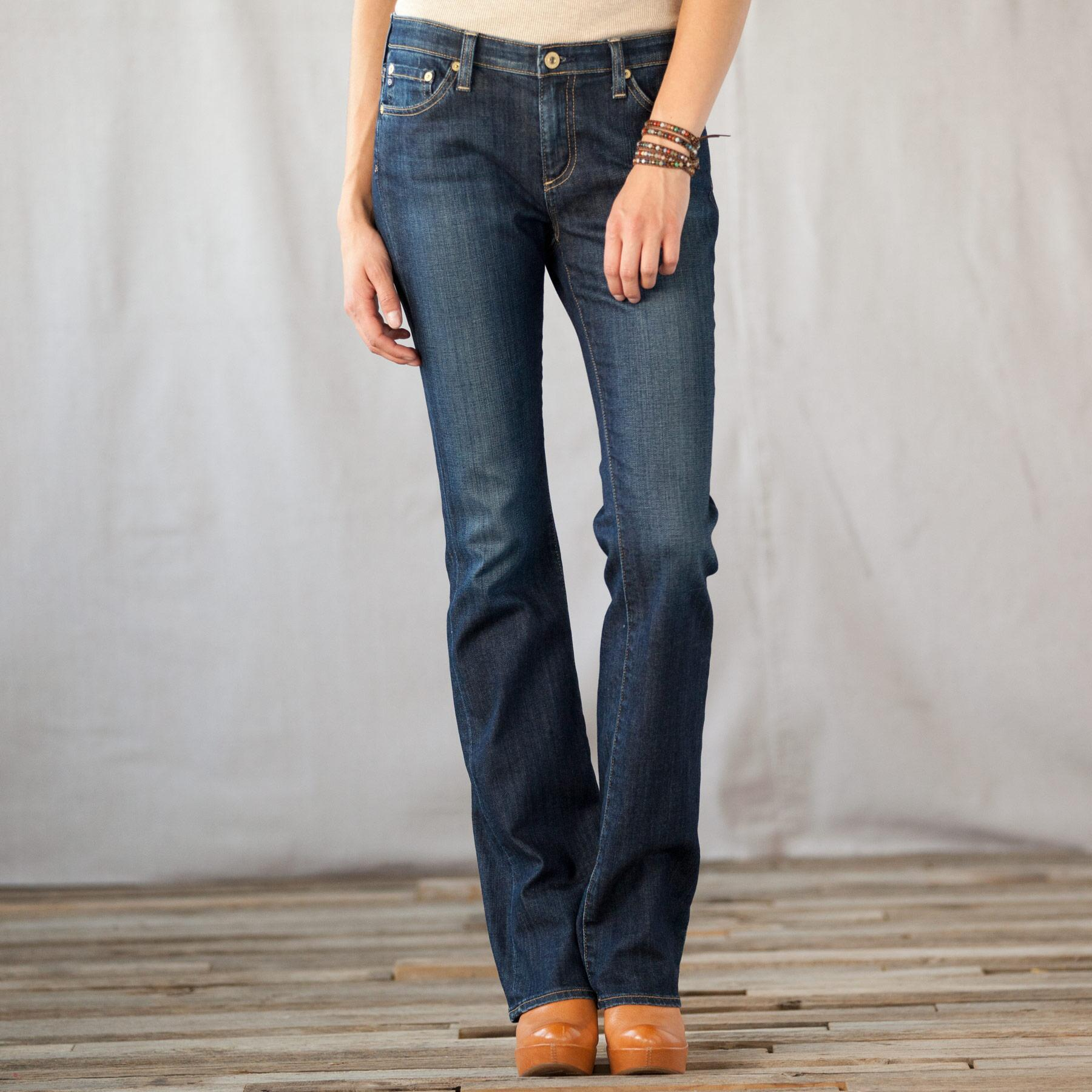 A G ALEXA MID-RISE BOOTCUT JEANS: View 1