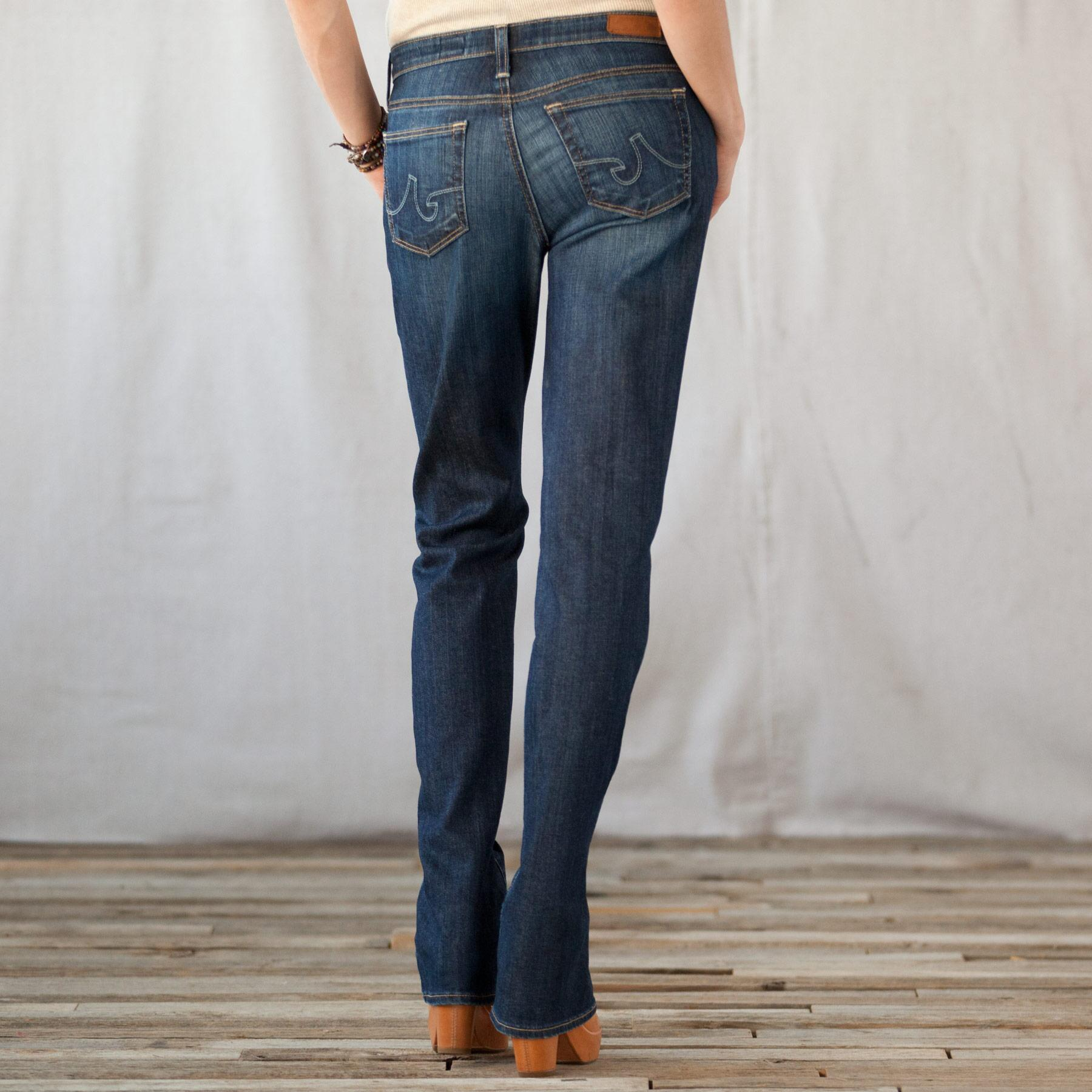 A G ALEXA MID-RISE BOOTCUT JEANS: View 2