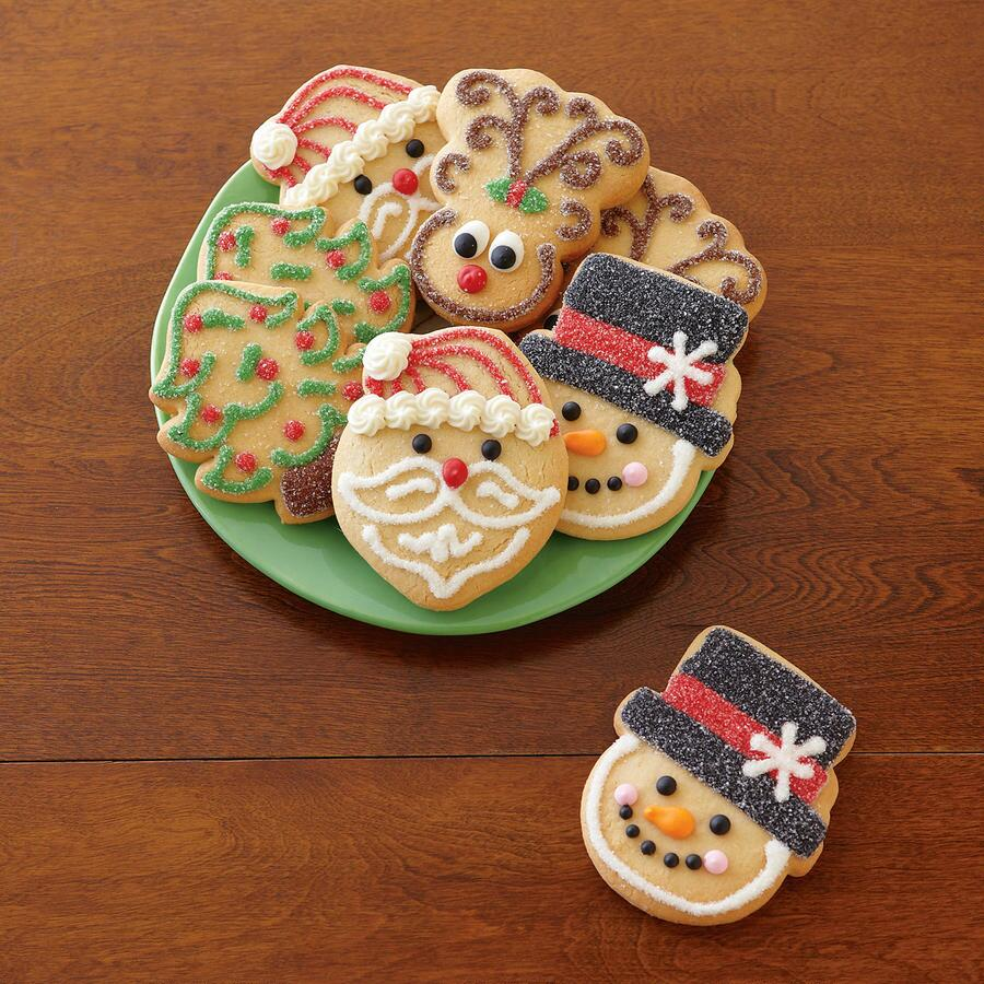HANDMADE HOLIDAY COOKIES, SET OF 8