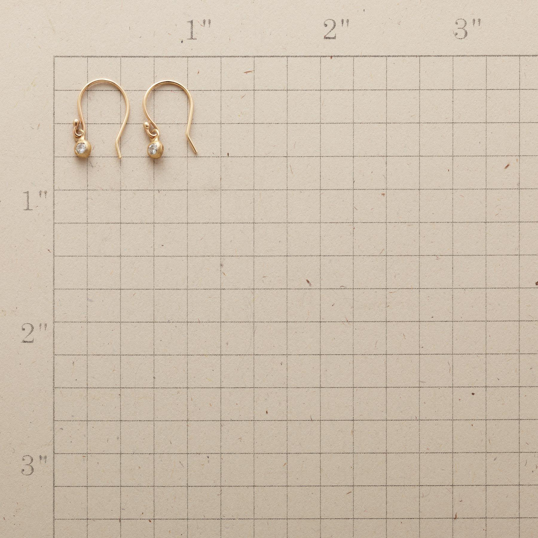 DAINTY DIAMOND EARRINGS: View 2