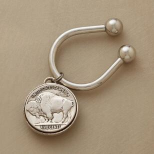VINTAGE BUFFALO NICKEL KEY FOB