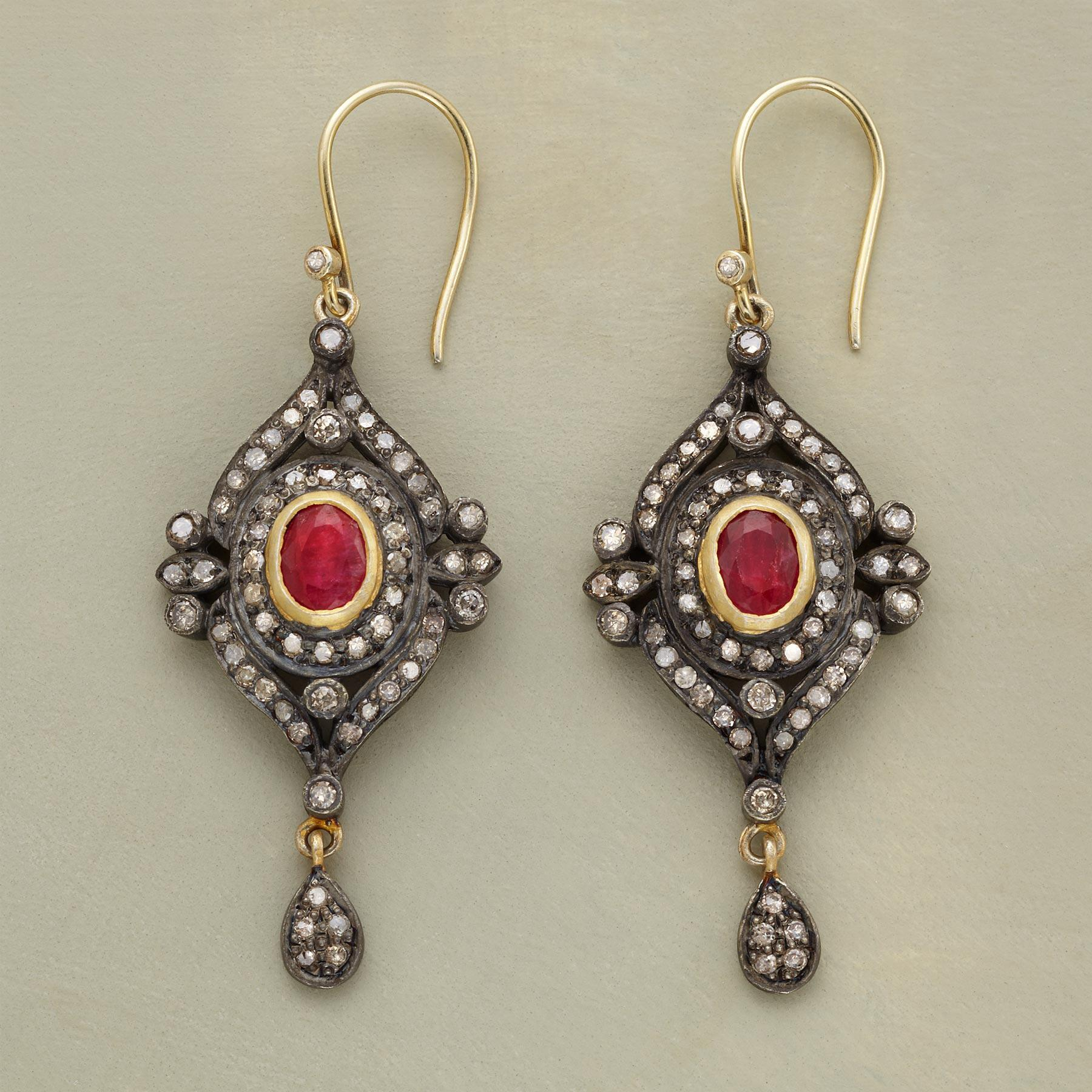 DOROTHEA RUBY EARRINGS: View 1