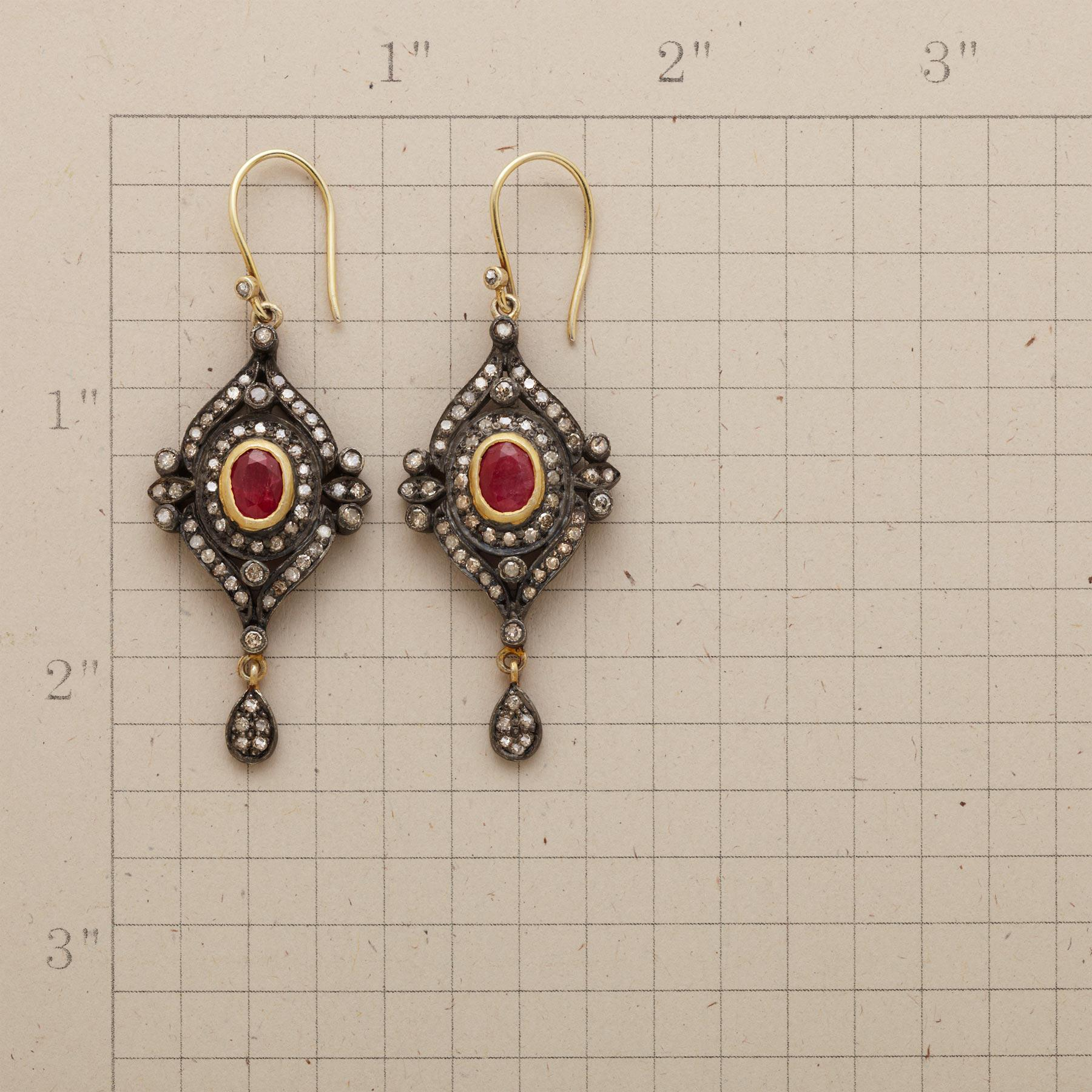 DOROTHEA RUBY EARRINGS: View 2