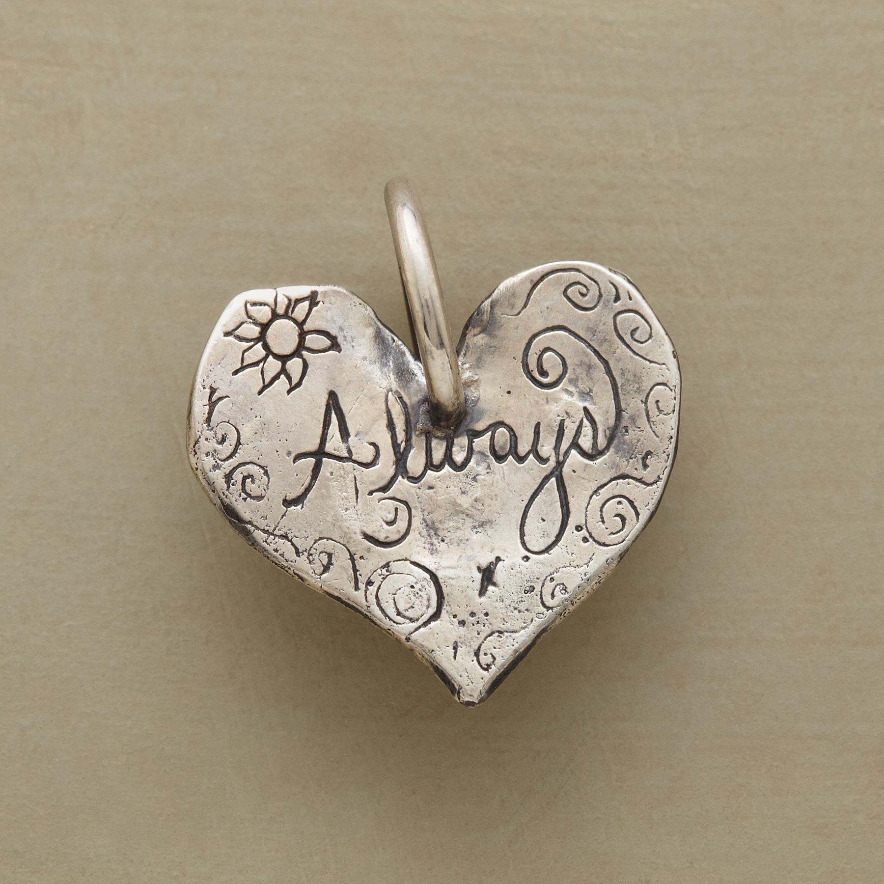 STERLING SILVER ALWAYS HEART CHARM: View 1