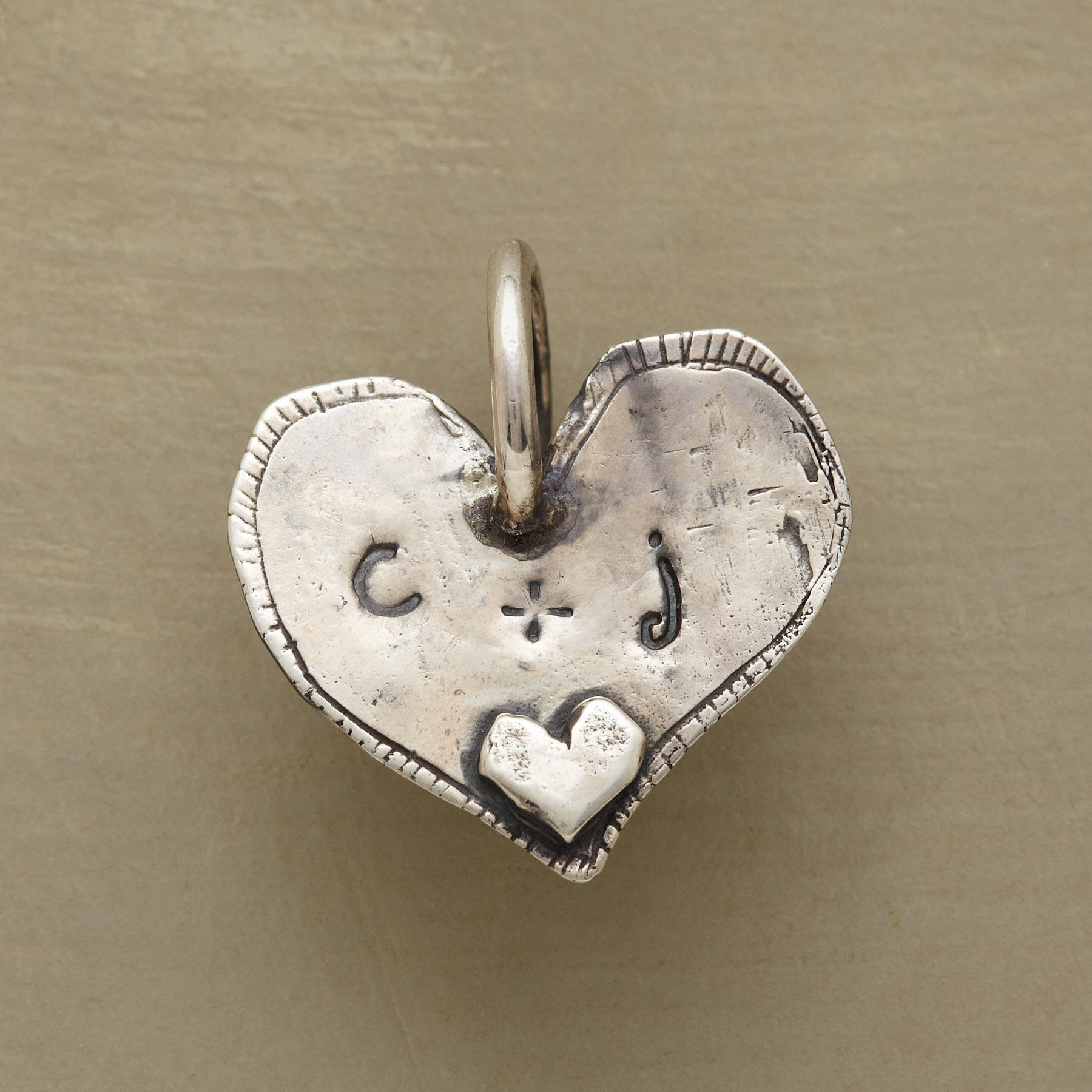 STERLING SILVER ALWAYS HEART CHARM: View 2