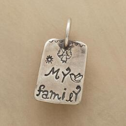 STERLING SILVER MY FAMILY CHARM