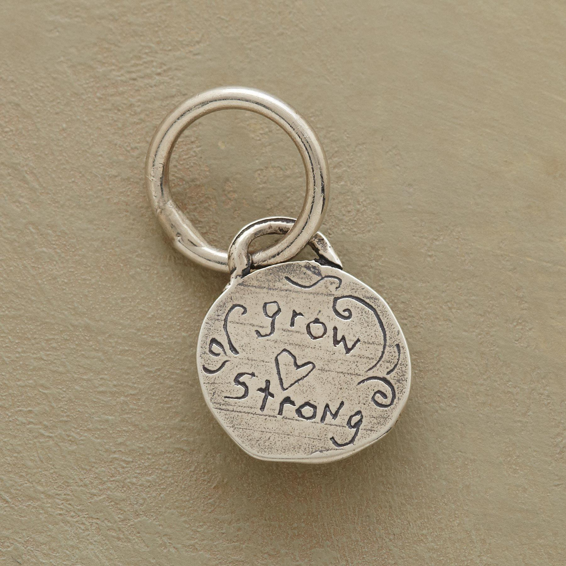 STERLING SILVER GROW STRONG CHARM: View 2