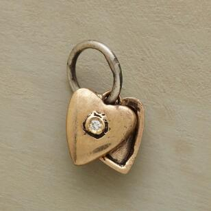 GOLD HEART LOCKET CHARM