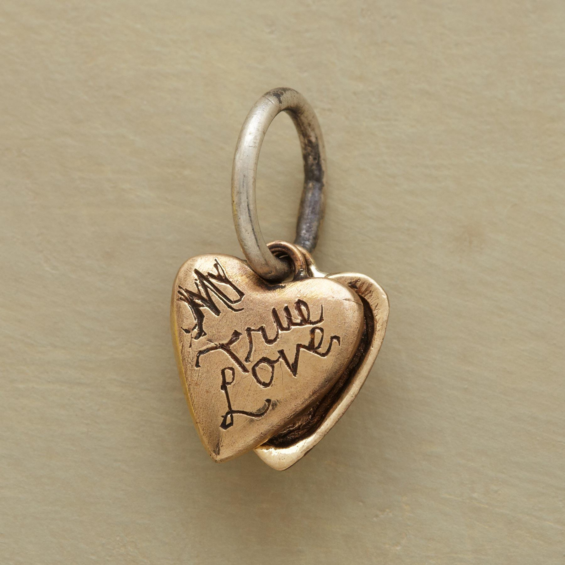 GOLD HEART LOCKET CHARM: View 2
